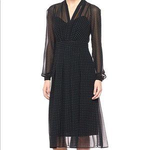 Ann Klein Black Polka Dot Dress